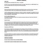 Tennis Tutor Prolite Owners Manual
